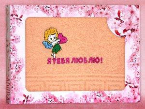 Махровое полотенце в подарочной коробке