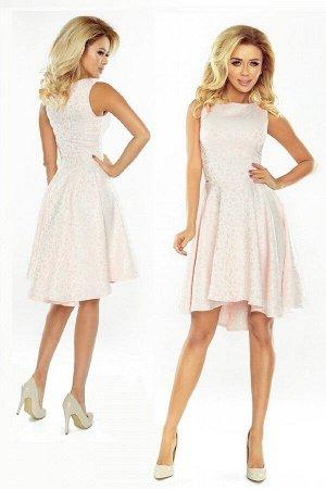 Платье NUMOCO 175-1 розовая пастель  Эксклюзивное расклешенное платье из высококачественного материала - пастельно-розового цвет