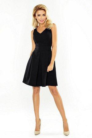 Платье NUMOCO 160-1  Нарядное платье с красивым вырезом, расклешённой юбочкой и карманами. Модель нежно раскрывает плечи и краси