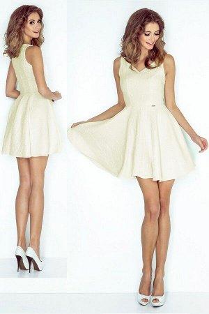 Платье MORIMIA 014-6  Платье-клёш с декольте в форме сердца. Текстурный материал. Состав: 70% вискоза, 30%полиэстер