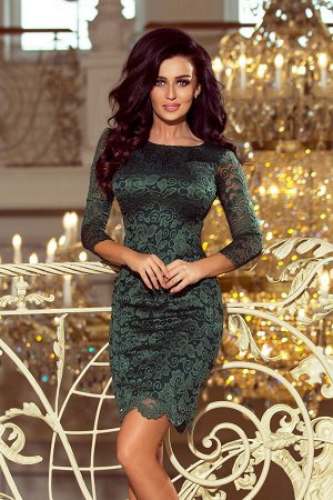 Платье NUMOCO 180-3  Облегающее кружевное платье. Кружевной узор может немного отличаться. Рост модели на фото 170 см. Состав: 7