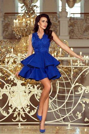 Платье NUMOCO 200-7  Эксклюзивное платье для особых случаев. Кружевное декольте и двойная расклешенная юбка создают женственный,