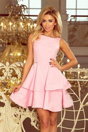 Платье NUMOCO 169-5  Платье-клёш с двумя оборками. Приятный к телу материал. Рост модели на фото 170 см. Состав: 95% полиэстер,