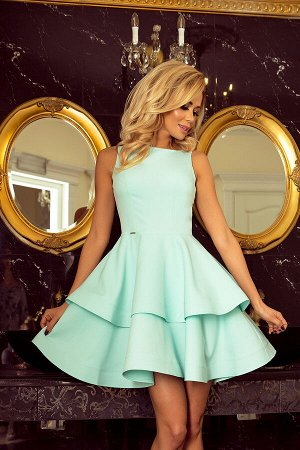 Платье NUMOCO 169-4  Платье-клёш с двумя оборками. Приятный к телу материал. Рост модели на фото 170 см. Состав: 95% полиэстер,