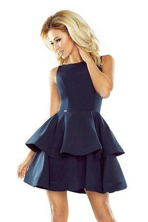 Платье NUMOCO 169-2  Платье-клёш с двумя оборками. Приятный к телу материал. Рост модели на фото 170 см. Состав: 95% полиэстер,