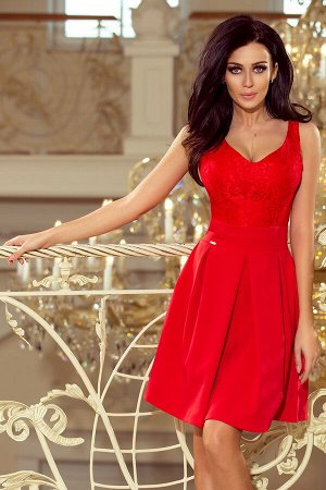 Платье NUMOCO 208-2  Эксклюзивное платье для особых случаев. Кружевной вырез, складки и карманчики. Очень приятная на ощупь мате