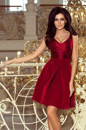Платье NUMOCO 208-3  Эксклюзивное платье для особых случаев. Кружевной вырез, складки и карманчики. Очень приятная на ощупь мате