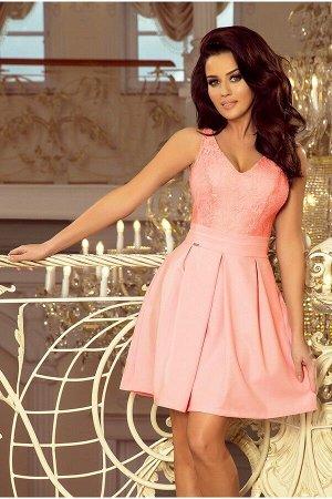 Платье NUMOCO 208-5  Эксклюзивное платье для особых случаев. Кружевной вырез, складки и карманчики. Очень приятная на ощупь мате