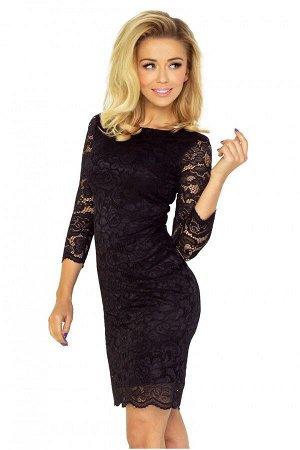 Платье NUMOCO 145-1  Маленькое чёрное платье незаменимо во многих ситуациях - как во время больших выходов, так и на интимных вс