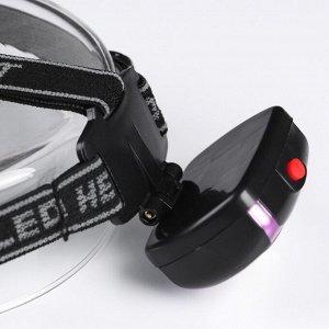 """Фонарь налобный """"Мастер К"""", 1 LED, 3 режима, 3 ААА, микс, 5х7 см"""