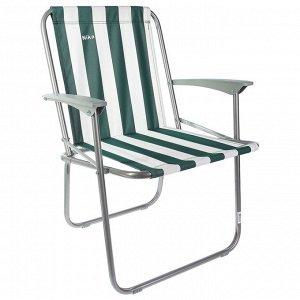 Кресло складное КС4, 57,5 х 61,5 х 74 см, цвет зелёный/белый