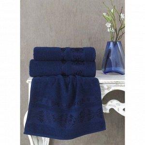 Полотенце Rebeka, размер 50 х 90 см, цвет синий