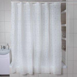 Штора для ванной комнаты Доляна «Квадро», 180?180 см, EVA