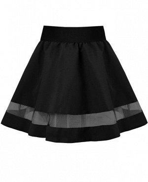 Чёрная школьная юбка для девочки 82661-ДШ20