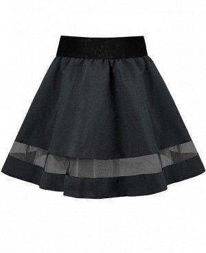 Серая школьная юбка для девочки 82663-ДШ19