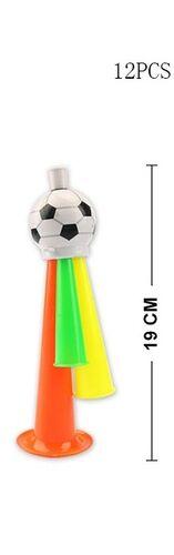 Гудок футбольный , цвет в ассорт.  19 cм пакет