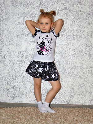Костюм Кошки звезды Футболка+юбка.