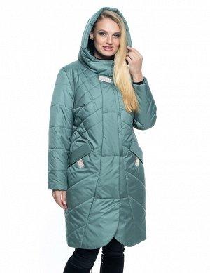 Женская удлинённая куртка в мятном цвете Код: 106 мята