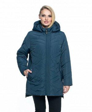 Женская весенняя куртка больших размеров Код: 104 малахит