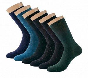 Классические мужские носки из мерсеризованного хлопка с минималистичным дизайном в виде точек