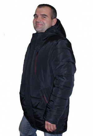Мужская зимняя куртка больших размеров Код: 11 чёрный