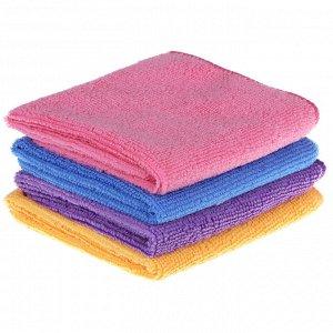 VETTA Набор салфеток из микрофибры 2 шт, универсальные, 25х35см, 220г/кв.м, 3 цвета, 3830-22