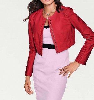 Кожаная куртка, красная