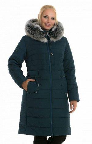 Батальный женский пуховик с капюшоном Код: 48 малахит чбк