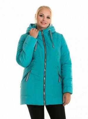 Бирюзовая теплая женская зимняя куртка Код: 58-1 бирюза