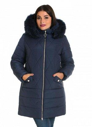 Зимняя куртка с мехом от производителя Код: 49 синий песец