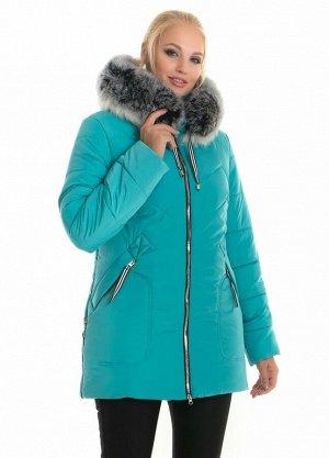 Молодежная женская зимняя куртка Код: 58 бирюза чбк