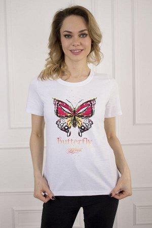 Футболка 925 бабочка белый