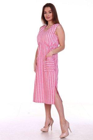 Сарафан полоска розовый