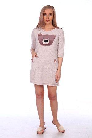 """Платье Платье """"Мишка"""" бежевый (М-336). Махра (хлопок+п/э)"""