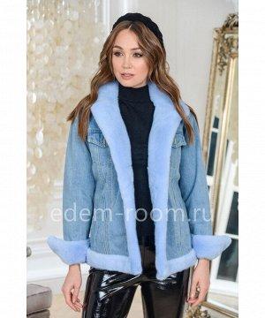 Куртка джинсовая с меховыми манжетамиАртикул: 123-65-GL-GL-N