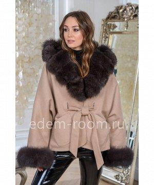 Утеплённое пальто с мехом песцаАртикул: AL-167-2-70-KM-P