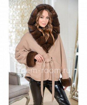 Укороченное пальто с мехом норкиАртикул: AL-167-2-70-KM-N