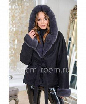 Пальто укороченное с мехом норкиАртикул: AL-167-2-70-CH-N