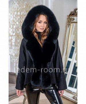 Укороченное пальто с мехом финского песцаАртикул: AL-756-2-80-CH-P