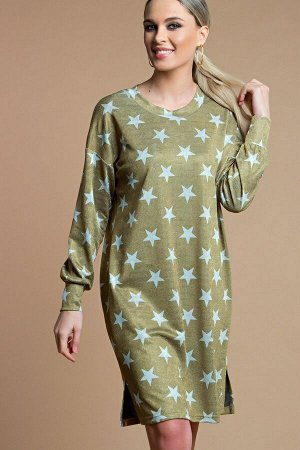 Платье -туника цвет  золото (П-218-4)