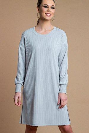 Платье -туника цвет  серый (П-218-3)