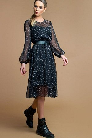 Платье Белучче из шифона звездочки (П-209-4)