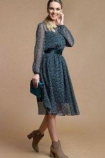 Платье Белучче из шифона цветочки БЕЗ ПОЯСА (П-209-3)