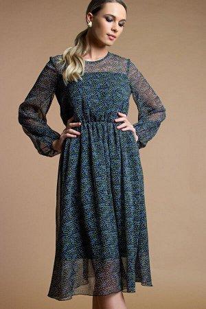Платье Белучче из шифона цветочки (П-209-3)
