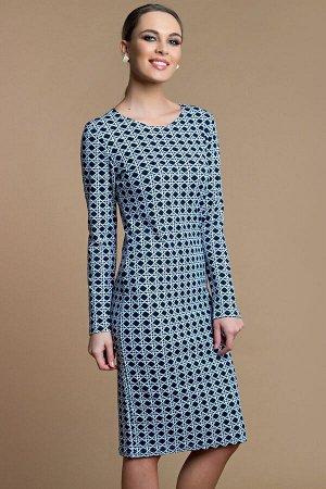 Платье футляр из трикотажа П-62-3