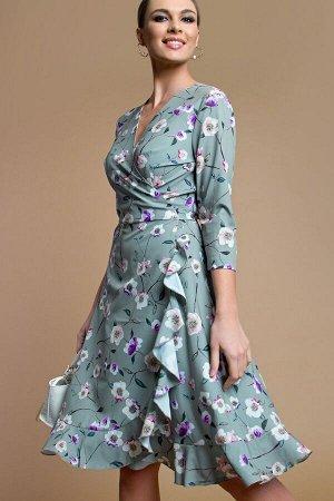 Платье с запАхом олива (П-169-2)