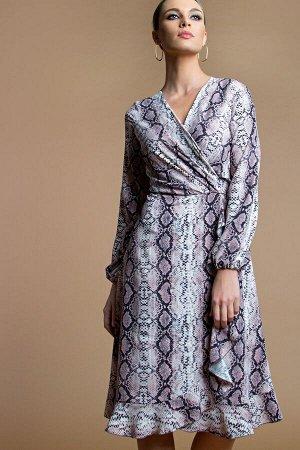 Платье с запАхом принт питон (П-168-4)
