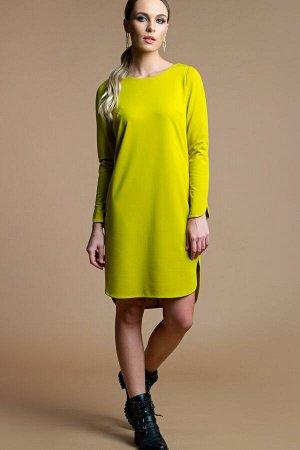 Платье Орнелла трикотаж горчица (П-196-1)