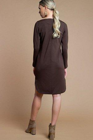 Платье Орнелла трикотаж шоколад (П-196-2)