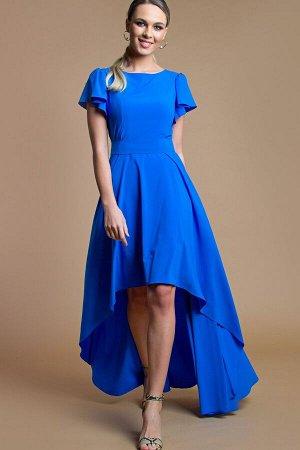 Платье Асимметрия цвет василек (П-50-5)